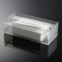 acrylic napkin box - Acrylic Tissue Box Transparent Plexigalss Napkin Boxes Tissue Box Concise and Elegant Pumping Paper Box for Home Office Decor MN C