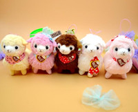Wholesale New Cute cm Alpaca Charming Japan Amuse Plush Heart Love Alpacasso Arpakasso Alpaca Soft Dll Toys