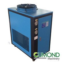 air chiller system - 4HP industrial air cooled chiller CUM AC R407C Refrigerant Cooing System Air Cooled Scroll industrial Chiller for Laser Machine
