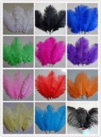 Wholesale Ostrich Feather Plume inch Blue Pink Purple Orange Yellow Black Red Green Wedding centerpiece table Decoration TNM