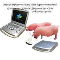 Wholesale Easywell laptop veterinary color ultrasound elements EW C15V with convex probe for abdominal evaluation