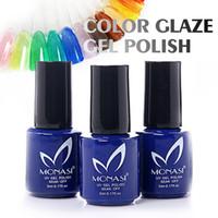 Wholesale MONASI Fashion Professional Gel Polish UV Nail Gel Long Lasting Glaze Color Gel French Manicure For Nail Art Design