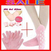 Wholesale Pair of socks Pair of gloves pair of elbow SPA Gel Whitening Gloves Socks Elbows