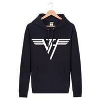 band hoody - New Autumn Men Hoodies Sweatshirts Black Pullover Hooded Casual Van Halen Rock Band Mens Sportswear Hoody