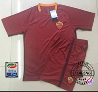 Wholesale 16 Rome soccer Jerseys Shirt PJANIC DZEKO TOTTI DE ROSSI home away Sportiva Roma suit football Jersey