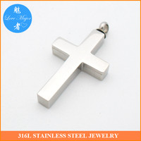 Wholesale 2016 Hot Selling Stainless Steel Cross Urn Cremation Necklace Pendant of Fashion jewelry