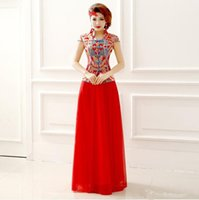 ball cap manufacturers - Top Quality manufacturers bride red short sleeved sexy cheongsam dresses customized size is ok new bride dress a1540