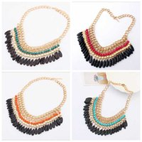 anklets for sale - Hot sale fashion jewellery Bohemia folk style acrylic Drop Necklace tassel clavicle chain charm bracelets necklaces for women anklet lockets