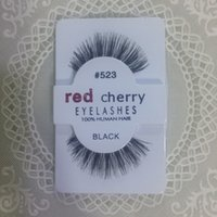 beauty export - Factory direct export red cherry red cherry handmade Natural false eyelashes Beauty Sale Free shining Synthetic Hair