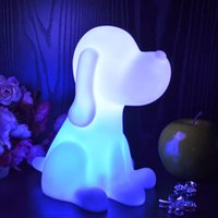 Wholesale portable night light projector Cute Cartoon Night light Multi Color angel Light dog Night lamp battery operated for kids room children lamps