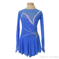 Wholesale New Collection Modern Jewel Neck Long Sleeve Figure Skating Dresses Custom Made Beaded Ice Skating Spandex Dress Hot Selling