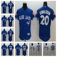 Wholesale Men s Toronto Blue Jays Jerseys Kevin Pillar Josh Donaldson Jose Bautista Marcus Stroman Baseball jersey