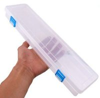 Wholesale New Plastic Clear Transparent Storage Collections Container Long Box quot MKWJ0065