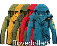 Wholesale 3in1 Mens Waterproof Windproof Parkas Climbing Ski Jacket Liner Hooded Coat Colors