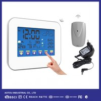 Wholesale TOUCH SCREEN Color Backlight Wireless Weather Station With Indoor Outdoor Thermometer Hygrometer T01 Adapter