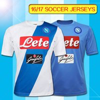 Wholesale SSC NAPOLI MATCH SHIRT SSC Napoli home Blue soccer jersey HAMSIK CALLEJON L INSIGNE Napoli home away third football jersey