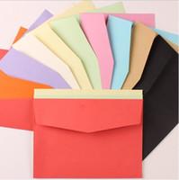Wholesale 12 cm colorful color kraft paper wedding decoration invitation envelope pure vintage blank Stationery brand