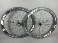 Wholesale 2016 new FFWD wheels F6R mm wheelset straight pull Powerway R36 carbon hubs full carbon road bicycle bike wheels