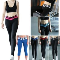 Wholesale Women s Slim Leggings Paige overlapping Sport Yoga Athletic Pants Hip yoga Leggings Tights slim Leggings