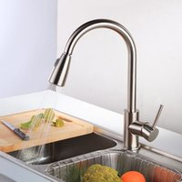 Wholesale Newest Pull out Spray Kitchen Faucet Mixer Tap brushed nickel single hand kitchen tap mixer brass LH