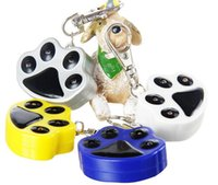 Wholesale Dog Paw Shape LED Flash Pet Safety Tag Dog ID Card Fit Pet Collar Necklace Bracelets Cell Phone Charms Mix Color Size Mix Order
