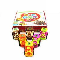 Precio de Trains-Venta caliente inercial mini tren Modelo de Kawaii Trenes regalos del día ABS juguetes del bebé los niños juguetes juguetes educativos para niños 6PCS color al azar
