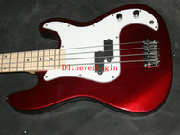 Wholesale Hot sales high quality Red bass guitar white guard support for custom