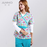 Wholesale 2016 New medical uniform for women medical clothings for flamingo fabric with comfortable medical uniform in scrubs set