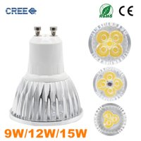 Wholesale High power CREE LED Spot light W W W led bulb GU10 E27 MR16 GU5 E14 LED Bulb AC85 V spotLight Super Bright Light