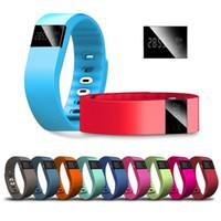 TW64 Bluetooth Smart Watches Smartband Wristband bracelet podomètre Heath sain moniteur pour Android IOS appple # 862