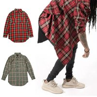 Wholesale 2016 Spring Fall Plaid Shirts Long Sleeve Slim Fit Comfort Soft Flannel Cotton Shirt Leisure Style Man Clothes FEAR OF GOD wear