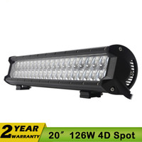 Wholesale Cree 12 Inch 72w - 20 Inch 126W LED Work Driving Light Bar CREE Spot Flood Combo 12V 24V LED Light Bar 4WD For JEEP SUV ATV 108W 144W 180W