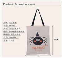 Wholesale New Arrival Halloween Large Canvas Bag Style Cotton Drawstring Bag With Pumpkin devil spider Hallowmas Gifts Hot Sack Bags SIZE cm
