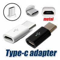 Wholesale High Quality Micro USB female to USB Type c male Cable Adapter Charge Data Sync Converter for MacBook Nokia With Ziplock Retail bag