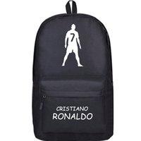 best footballers - Back Cristiano Ronaldo backpack CR7 Football Club school bag C Footballer soccer star rucksack Good day pack Best daypack