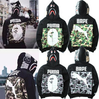 balaclava cottons - 2016 Autumn And Winter New Camouflage Cooperation brand supre plus balaclavas shirt printing large size men s casual sweater coat