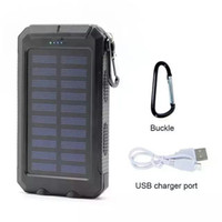 Wholesale 2016 HOT Waterproof mAh Dual USB Portable Solar Battery Charger Solar Power Bank hb