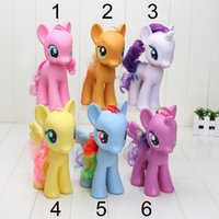 Wholesale 8 cm Colorful Anime Cartoon My Little Pony Loose Figures Pony PVC Action Figure Toys Dolls