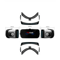 Wholesale 2016 D Glasses VR BOX Virtual Reality VR Cool Google Cardboard Oculus Drift Gear Head Mount for inch Smartphone