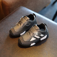 autumn shoes collection - Autumn New Collection Kids Casual Shoes For Boys Girls Soft Cow Muscle Bottom PU Children Running Sport Shoes Fashion Light Athletic Shoes