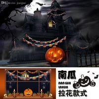 Wholesale 2016 NEW Halloween Halloween supplies bar decorated cardboard pull banner banner flag Lahua pumpkin skull props
