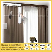 Wholesale Less than DB Silent motorized curtain blinds size customed acceptable compatible with different home automation system llike zigbee Lutron