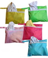 Wholesale Candy color baby out dirty clothes pouch Mummy bag auxiliary bag stroller Waterproof Bag cm