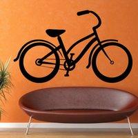 Cheap Cheapest Wholesale Vinyl Removable Black Wall Sticker Bike Classic Self Adhesive Living Room Home Decor