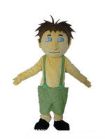 athletic pants for boys - 100 real picture a yellow boy mascot costume with a green suspender pant for adult to wear
