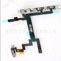 Wholesale 100 Original For Iphone S C Plus Power Volume Flash Mute Switch Button Control Flex Cable With Microphone for iphone g s c plus