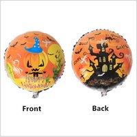 aluminium foil bubble - 2016 Foil Inflatable Halloween balloons inch Happy Halloween pumpkin head balloons for Party Decoration Halloween skull balloons Kids Toy