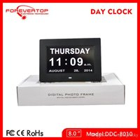 plastic table clock - new wall clock inch LED alarm calendar Day clocks table clock digital alarm clock elderly clock