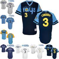 baby bay - Tampa Bay Rays Evan Longoria Jersey White Dark Baby Blue Cool Stitched Baseball Jerseys Embroidery Logo size S XL
