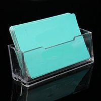 Wholesale Best Promotion Business ID Clear Transparent Card Holder Stand Acrylic Desktop Stand Display Desktop Office Shelf